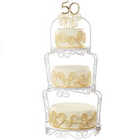 Golden Scrolls Cake