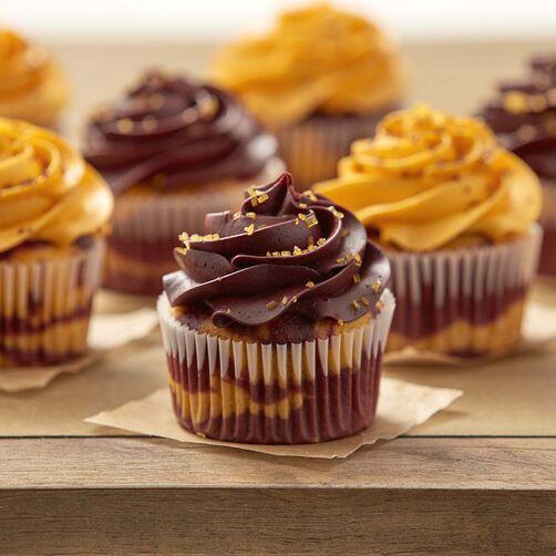Wilton Marbled School Spirit Cupcakes
