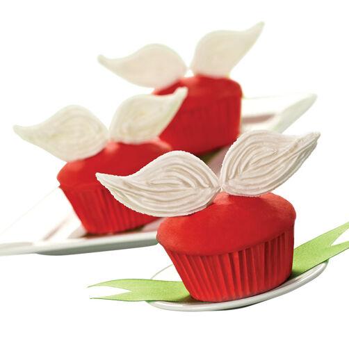 Santa's Mustache Christmas Cupcakes