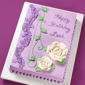 Violets and Roses Sheet Cake