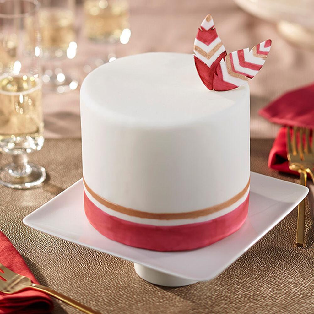 Wilton Cake Decorating Tips Fondant : Painted Feathers Fondant Cake Wilton