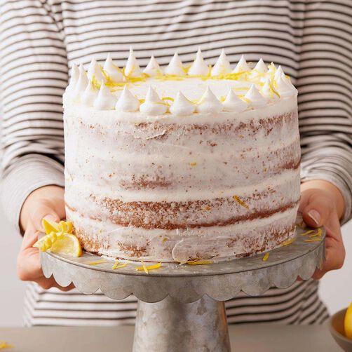 Lemon Poppy Seed Cake with Lemon Buttercream Frosting