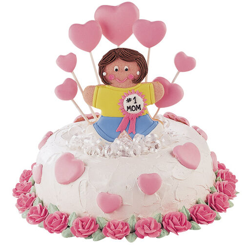 Our Hearts Belong to Mom Cake