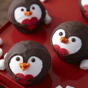 Penguin Valentine?s Day Cupcakes