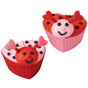 Valentine Love-Bugs Cupcakes
