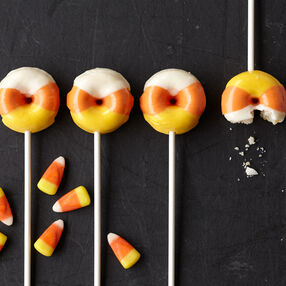Halloween Candy Corn Mini Doughnuts