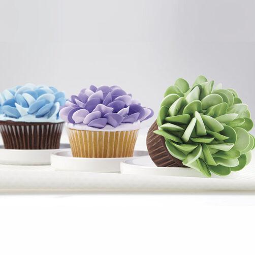 Two Tone Rosebud Petal Jumbo Cupcakes Wilton