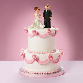 Roses & Ribbons Wedding Cake