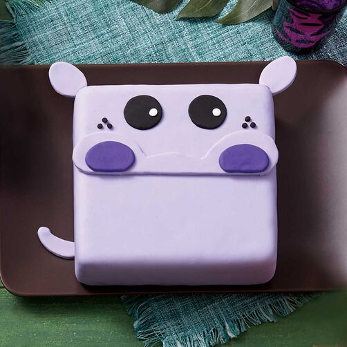Wilton Fondant Purple Hippo Cake