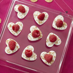 Blinged Candy Melts Candy Heart Bites