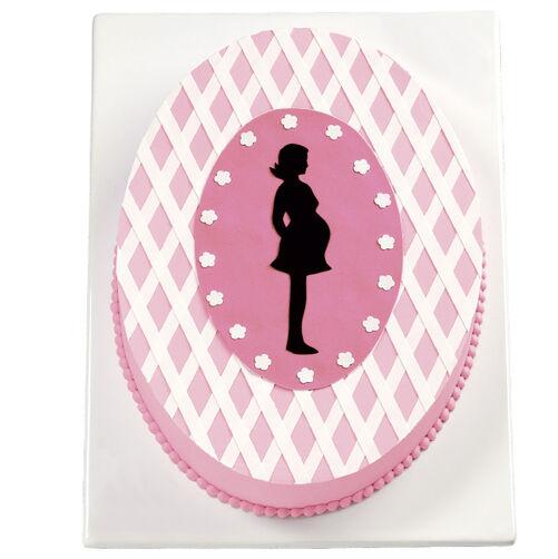 Silhouette Baby Shower Cake