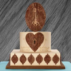 Key to Your Heart Wedding Cake