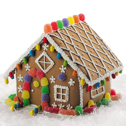 Gingerbread Home Decor: Lattice Gingerbread House