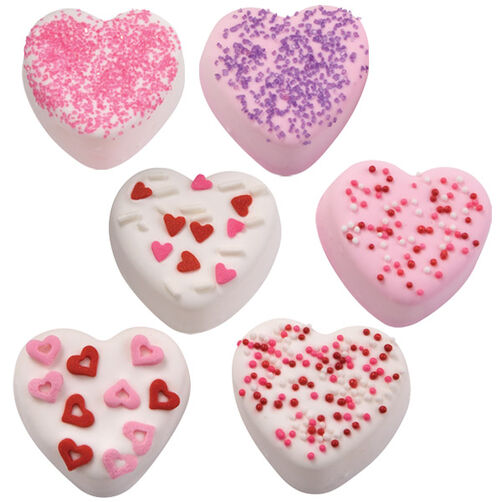 Sparkle Hearts Mini Cakes