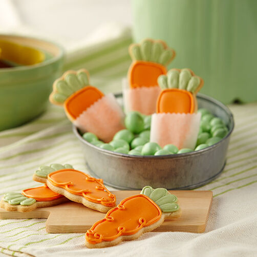 Cute Roll-Out Carrot Cookies