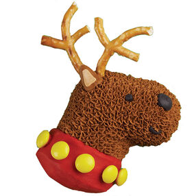 Santa's Deer Friend Mini Cake
