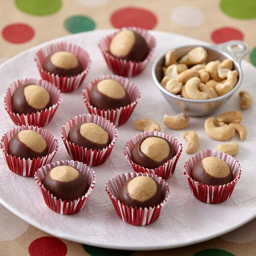 Cashew Buckeye Cookies