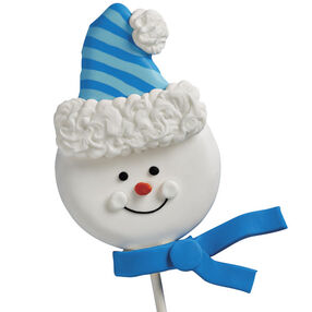 Snuggled-Up Snowman Cookie Pop
