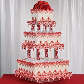 Crimson Lace Cake