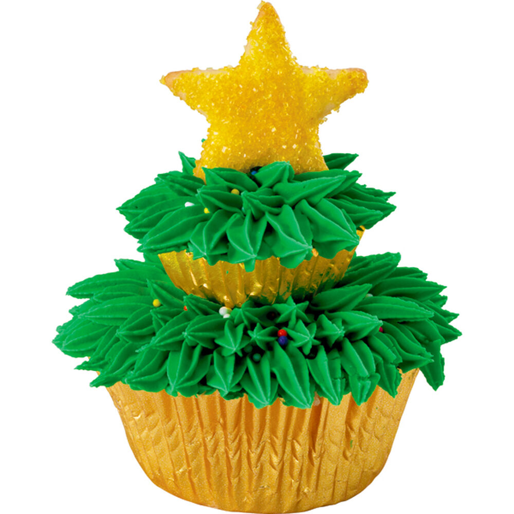Christmas Tree Muffins: Two-Tiered Tree Cupcakes