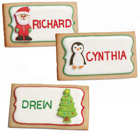 Festive Place Card Cookies