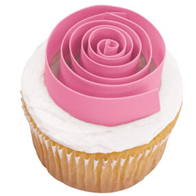 Rosy Scroll Cupcakes