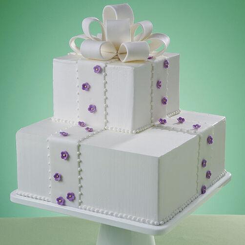 Simple Violet Elegance Cake
