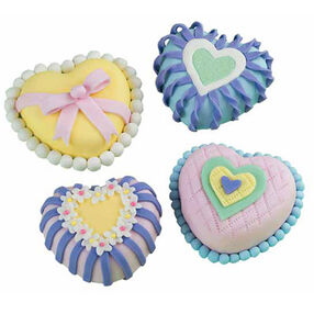 Mini Heart Art Mini Cakes