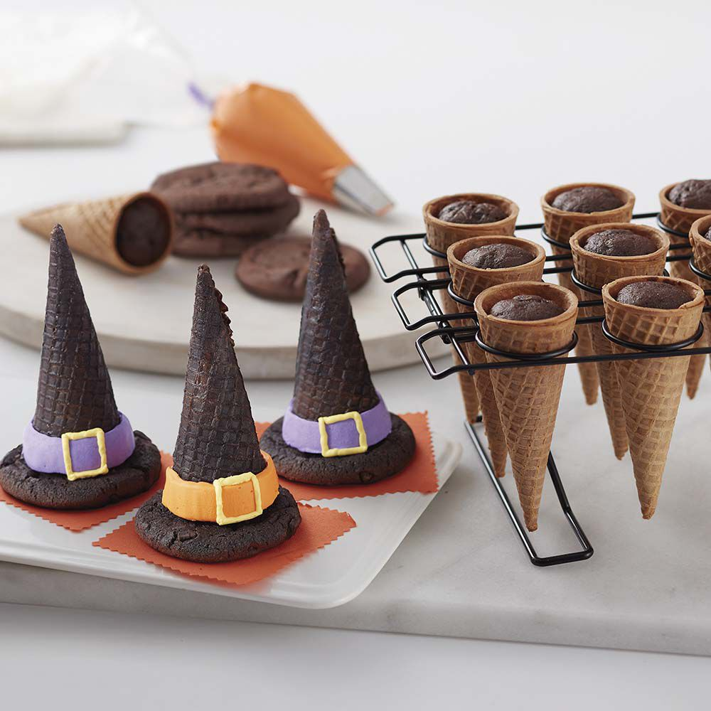 halloween witch hat cupcake cones wilton