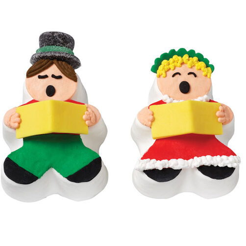 Christmas Carolers Mini Cakes