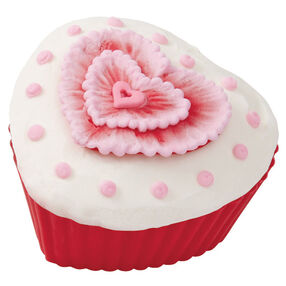 Hearts' Desired Embroidered Cupcake