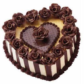 Radiant Roses Cheesecake