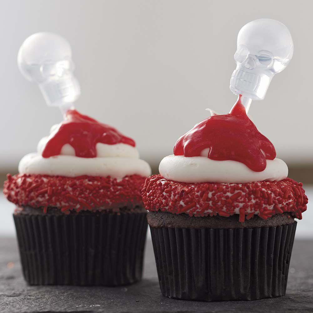 a shot of liquor halloween cupcakes