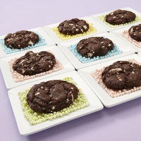 Marshmallow and Dark Chocolate Cookies