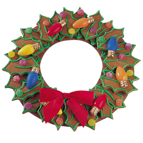 Technicolor Wreath Cookies