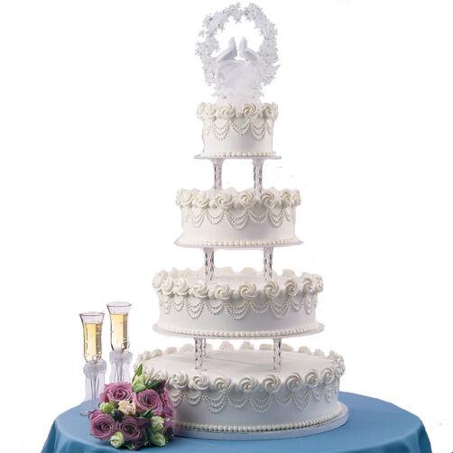 A Swirl of Rosettes Cake