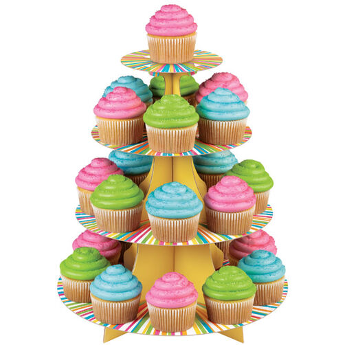 Colorful Cupcakes Display