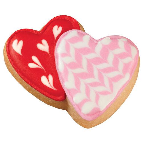 Interlocking Hearts Pan Cookies