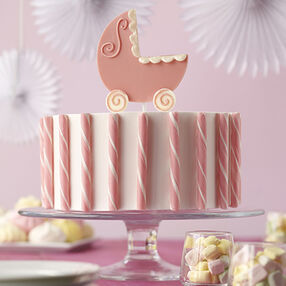 Candy Carriage Shower Cake
