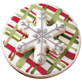 Green & Red Holiday Plaid Cookie
