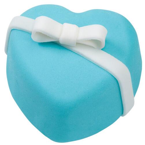 Blue Heart Mini Cakes