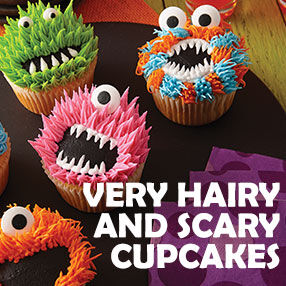 Very Hairy and Scary Cupcakes