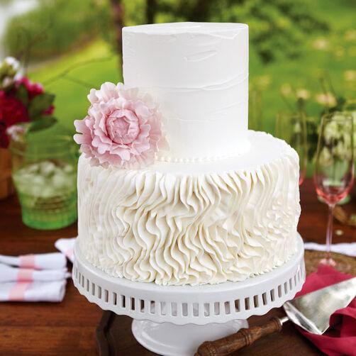 Peony Crepe Wedding Cake