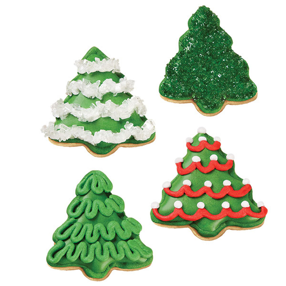 Decorating Ideas For Christmas Tree Cookies : A grove of christmas tree cookies wilton