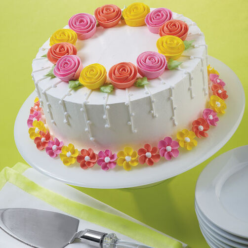 Fanciful Flowers Cake