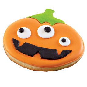 Looks Like a Jack-O-Lantern Cookie