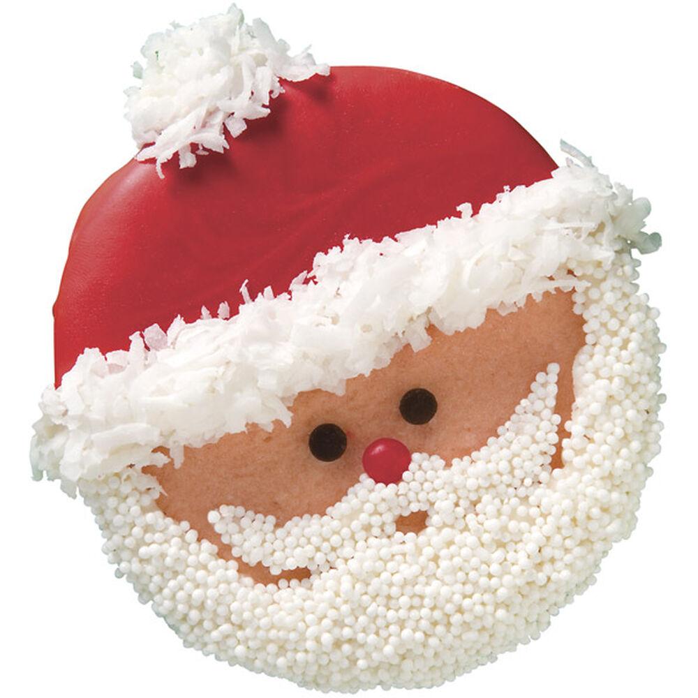 Cute Santa Cookies For Christmas Wilton