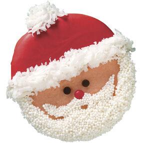 Cute Santa Cookies for Christmas