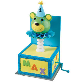 Bear-in-the-Box First Birthday Cake
