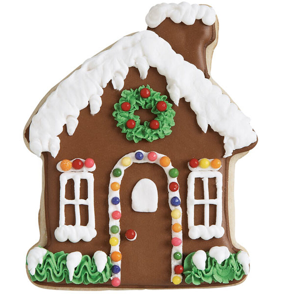Jolly Gingerbread House Cookie Wilton
